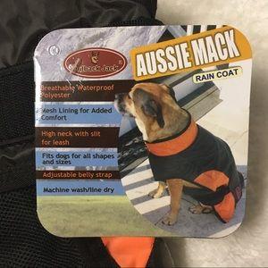 Outback Jack Dog Raincoat Sz Small Orange